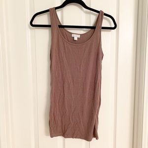 A Pea In A Pod Maternity Brown Tank Size Small